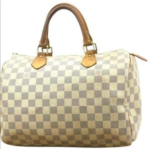 Louis Vuitton Damier Azur Speedy 30 Doctor Boston